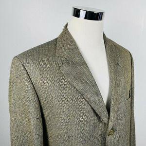 Brooks Bros 44R Sport Coat Wool Silk Herringbone